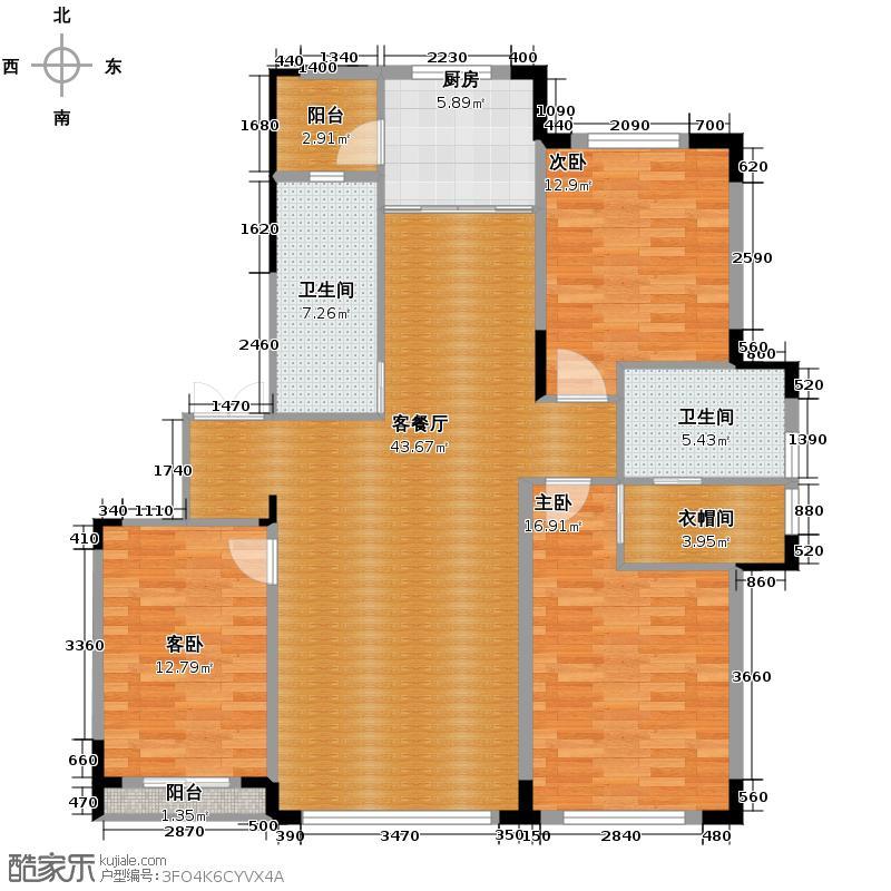 倚澜观邸二期124.96㎡户型10室