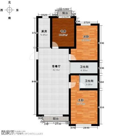 嘉柏湾3室1厅2卫1厨132.00㎡户型图