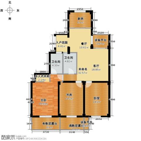 九洲芳园2室0厅2卫1厨129.00㎡户型图