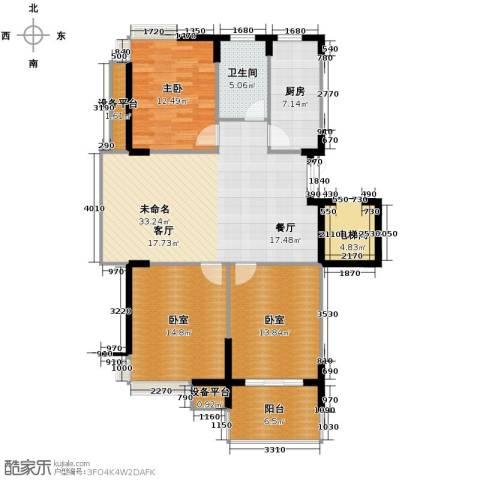 左邻右舍1室0厅1卫1厨110.00㎡户型图