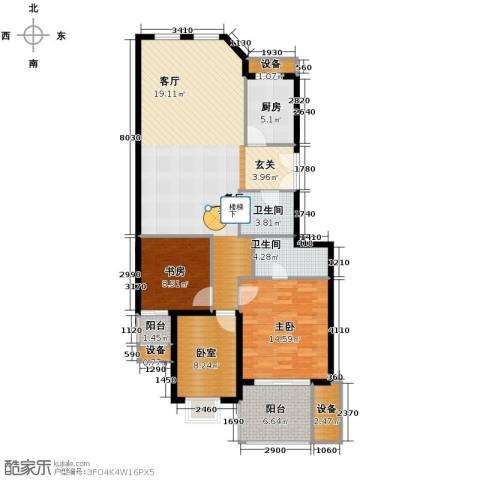 浅水湾城市花园2室0厅2卫1厨109.94㎡户型图