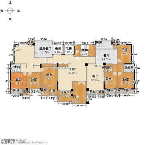 魅力之城1室1厅2卫1厨355.00㎡户型图
