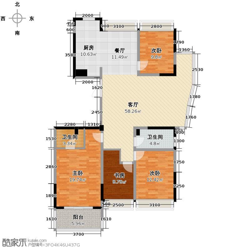 温兴风情苑162.00㎡户型4室1厅2卫