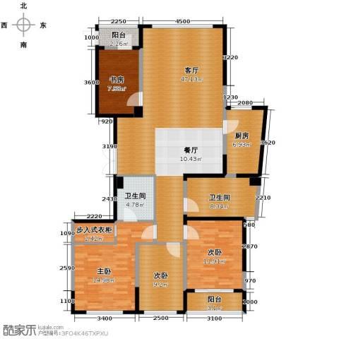 海威国际4室1厅2卫1厨162.00㎡户型图
