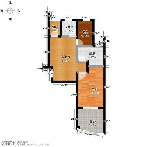 圣联梦溪小镇2室2厅1卫0厨64.00㎡户型图