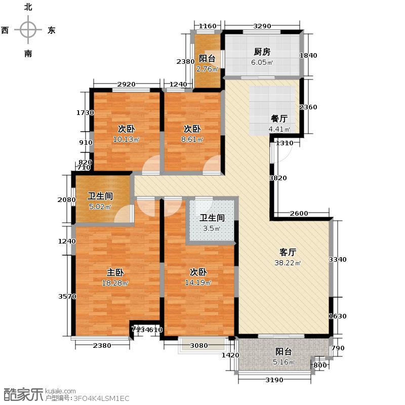 林河春天146.72㎡F1户型4室1厅2卫1厨