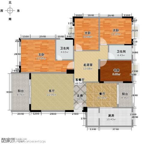 凯旋城4室1厅2卫1厨172.00㎡户型图