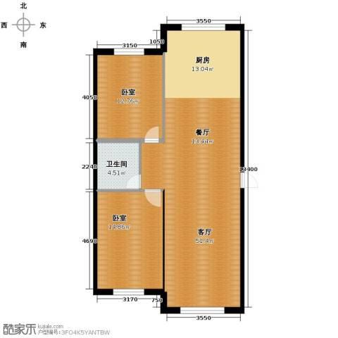 东方之珠龙翔苑2室2厅1卫0厨90.00㎡户型图