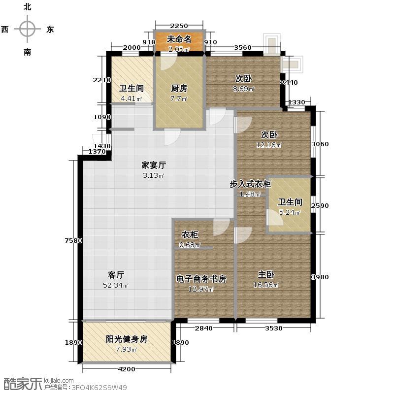 晨光绿苑152.00㎡户型3室1厅2卫1厨