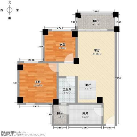 南沙碧桂园2室1厅1卫1厨81.00㎡户型图