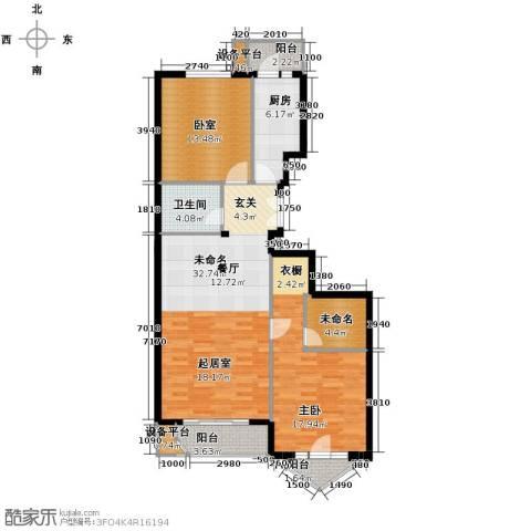 世纪东方城1室0厅1卫1厨98.22㎡户型图