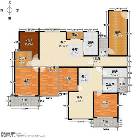 海天城5室2厅2卫2厨193.86㎡户型图