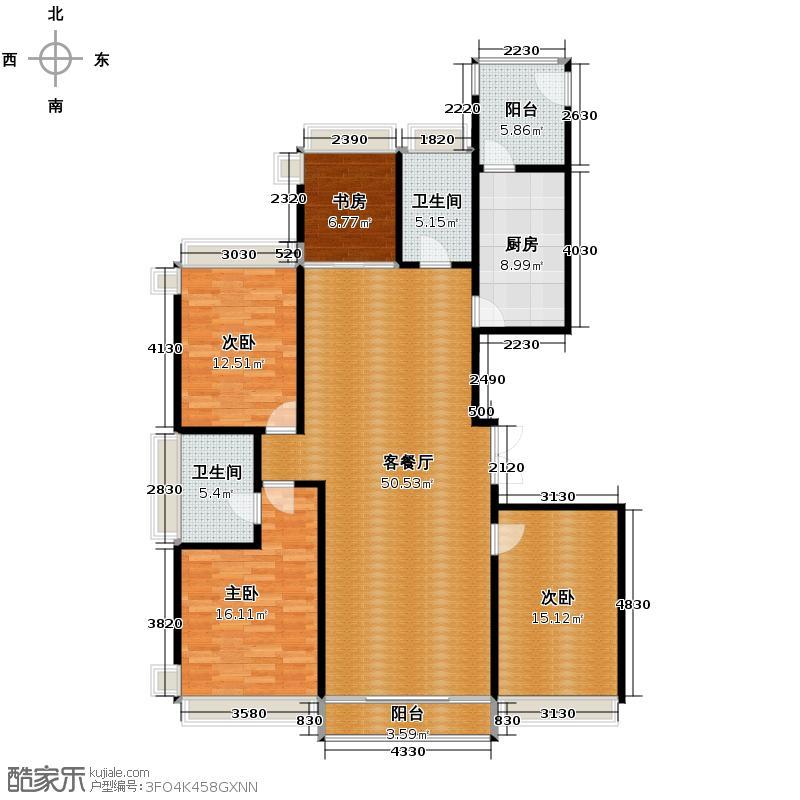 汇锦城168.25㎡联邦祥云国际22户型4室1厅2卫1厨