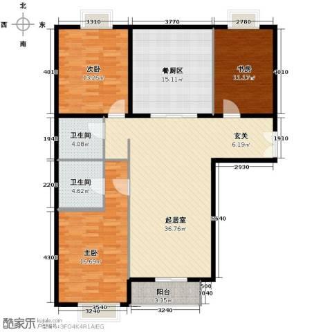 世纪东方城3室0厅2卫0厨144.00㎡户型图