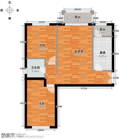 银丰花园2室0厅1卫1厨101.00㎡户型图