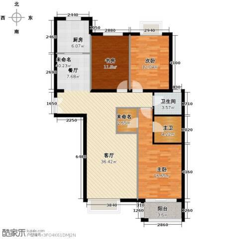 银丰花园3室0厅1卫1厨137.00㎡户型图