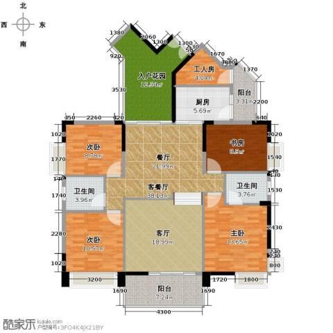 中惠金士柏山4室1厅2卫1厨168.00㎡户型图