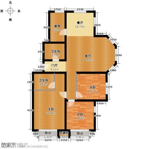 保利花园3室1厅2卫1厨149.00㎡户型图