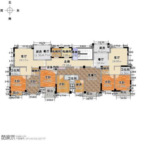 魅力之城6室3厅3卫3厨327.00㎡户型图