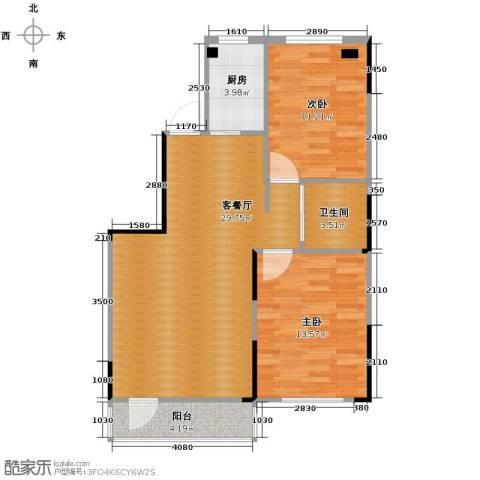 领秀世家2室2厅1卫0厨93.00㎡户型图