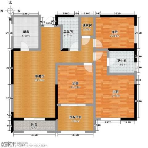 金色梧桐3室2厅2卫0厨144.00㎡户型图