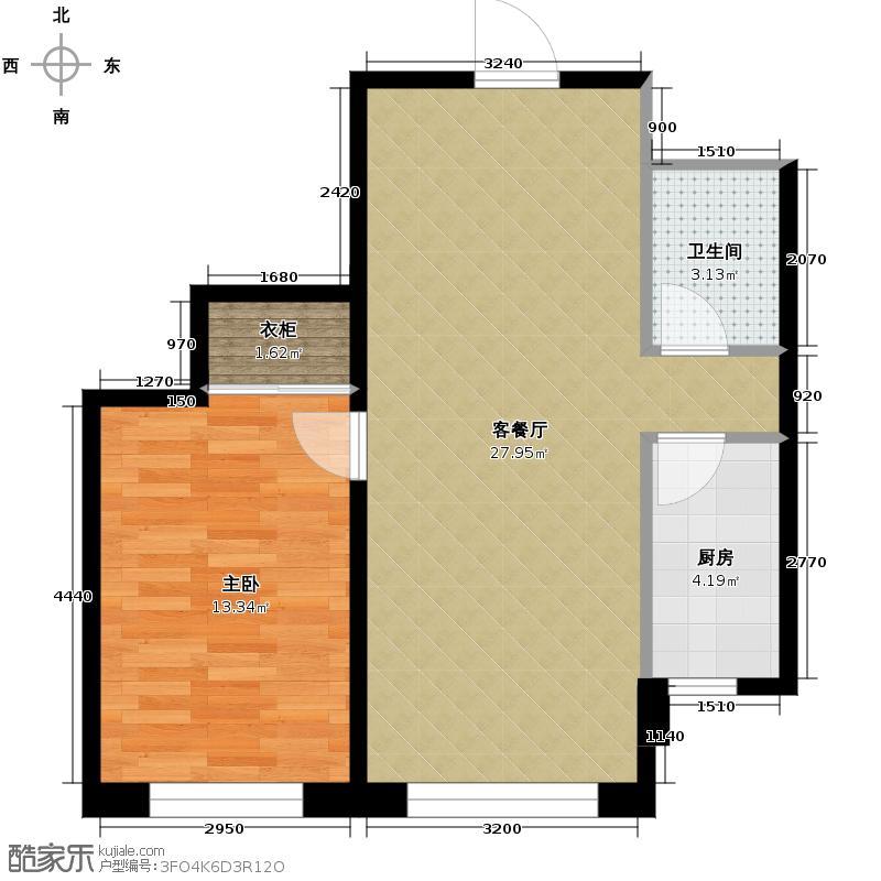 嘉柏湾56.37㎡户型10室