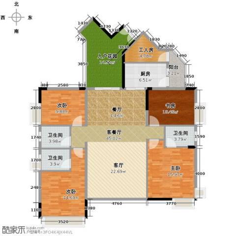 中惠金士柏山4室1厅3卫1厨188.00㎡户型图