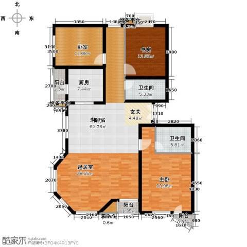 世纪东方城2室0厅2卫1厨146.37㎡户型图