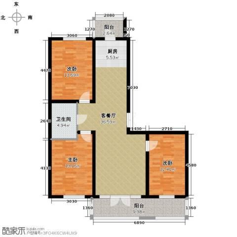 鑫都绿荫芳邻3室2厅1卫0厨151.00㎡户型图