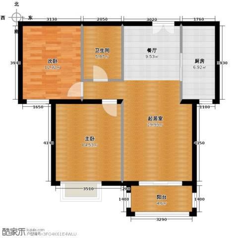 银丰花园2室0厅1卫1厨108.00㎡户型图