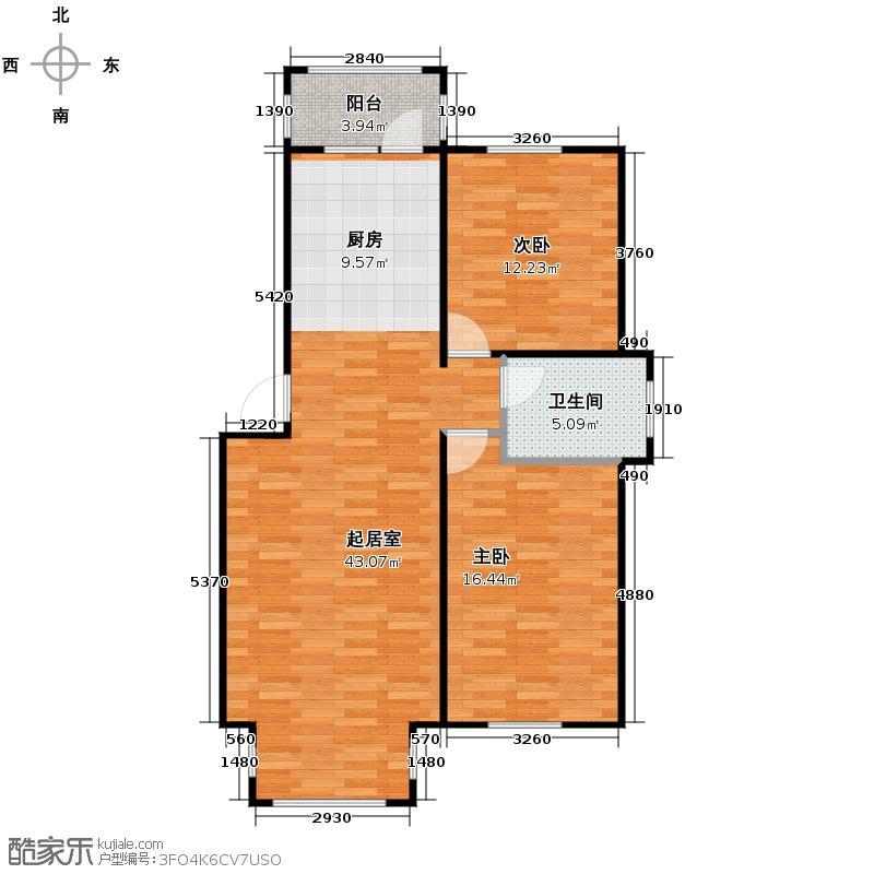海富漫香林68.76㎡多层户型2室1厅1卫