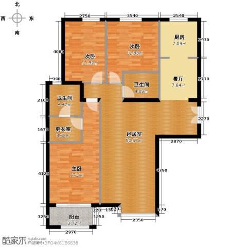 银丰花园3室0厅2卫0厨125.00㎡户型图