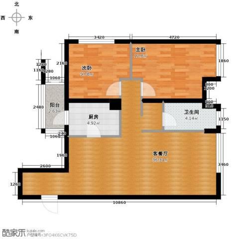 万象上东2室2厅2卫0厨100.00㎡户型图
