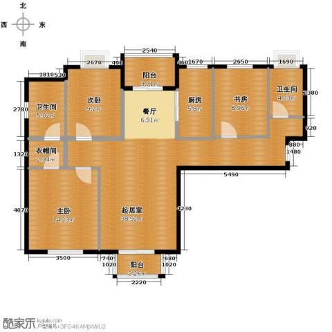 浩友凤凰城3室0厅2卫1厨128.00㎡户型图