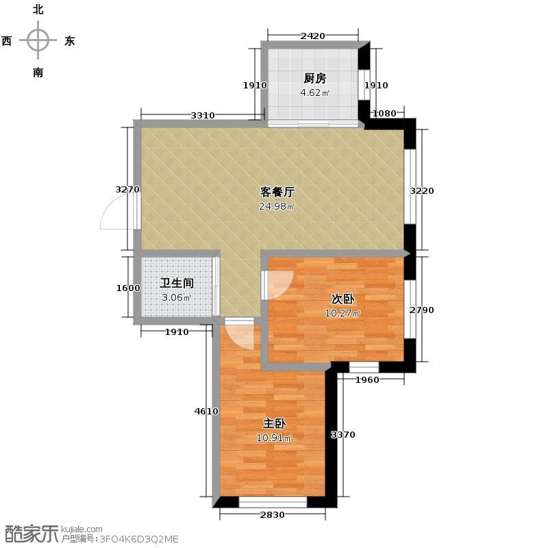 嘉柏湾61.74㎡户型10室