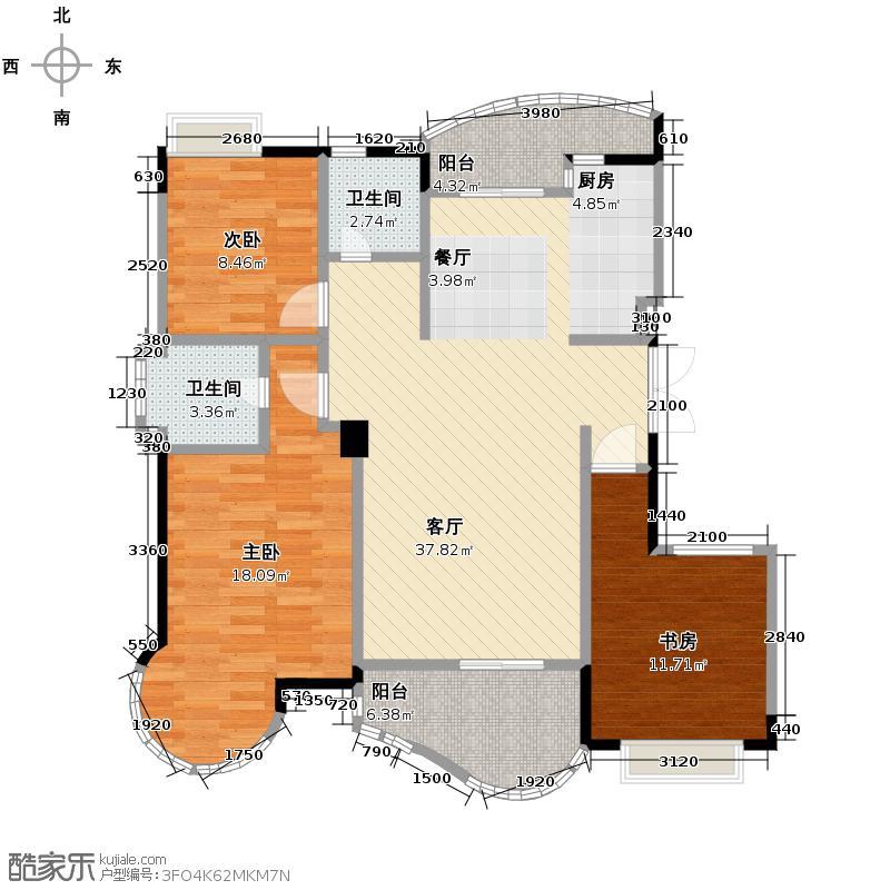 天阳美林湾119.09㎡户型3室1厅2卫