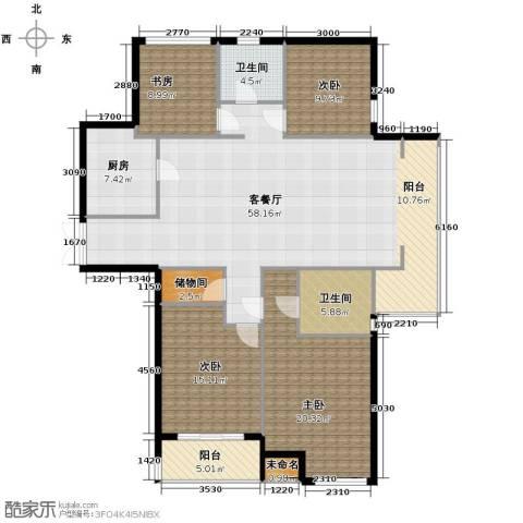 上东臻品4室1厅2卫1厨190.00㎡户型图