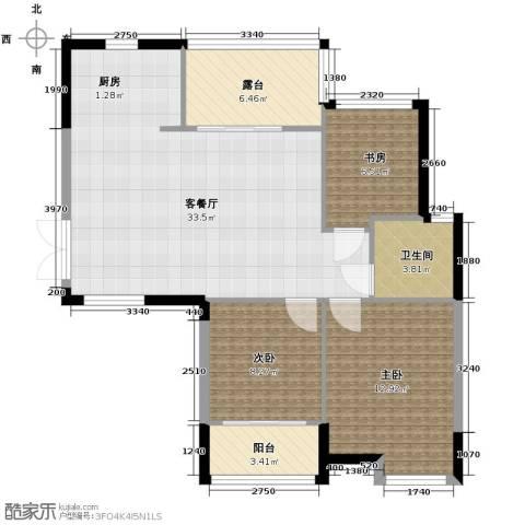 上东臻品3室1厅1卫0厨104.00㎡户型图