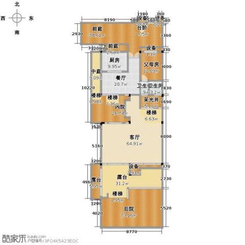 保利林语墅2厅2卫1厨270.12㎡户型图