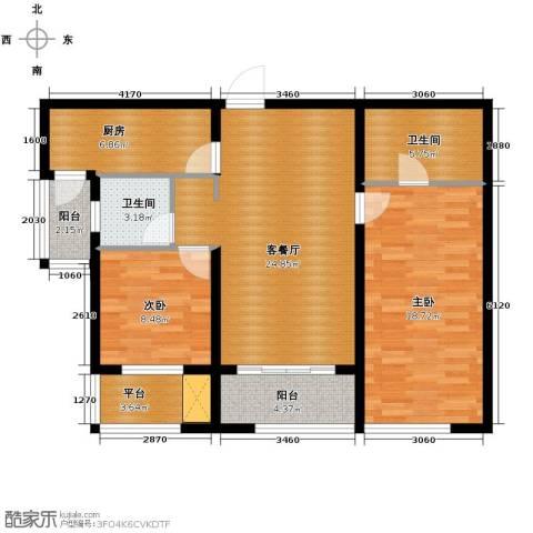 万象上东2室2厅2卫0厨112.00㎡户型图