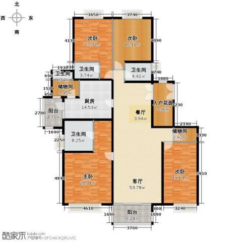 南城都汇御天下4室1厅4卫1厨224.00㎡户型图