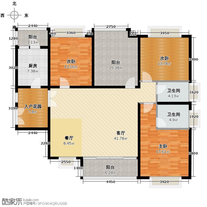 南城都汇御天下146.00㎡三期6栋3-17层、7栋3-15层奇数层2、3号房户型3室1厅2卫1厨
