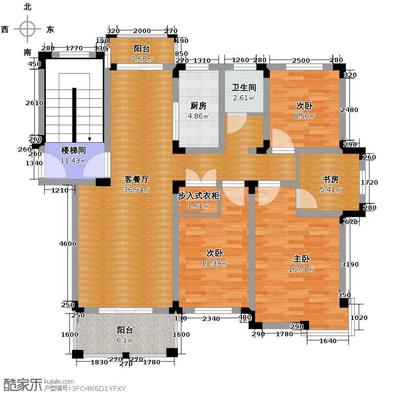 皇马花园118.59㎡多层E1户型4室1厅1卫1厨