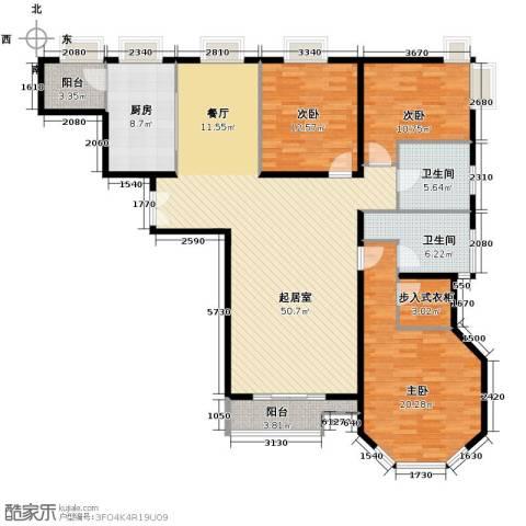 世纪东方城3室0厅2卫1厨172.00㎡户型图