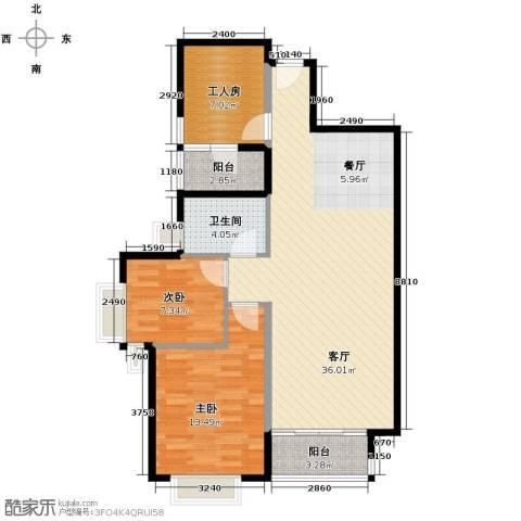 南城都汇御天下2室1厅1卫0厨90.00㎡户型图