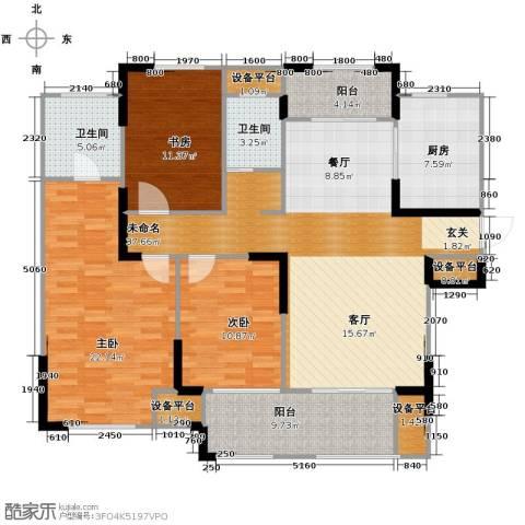 公园壹号花园3室0厅2卫1厨160.00㎡户型图