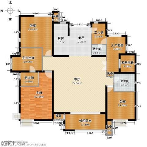 领秀新硅谷1室1厅2卫0厨220.00㎡户型图