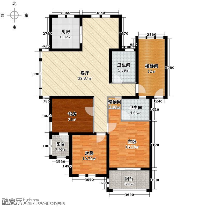 东冠逸家124.10㎡户型3室1厅2卫1厨