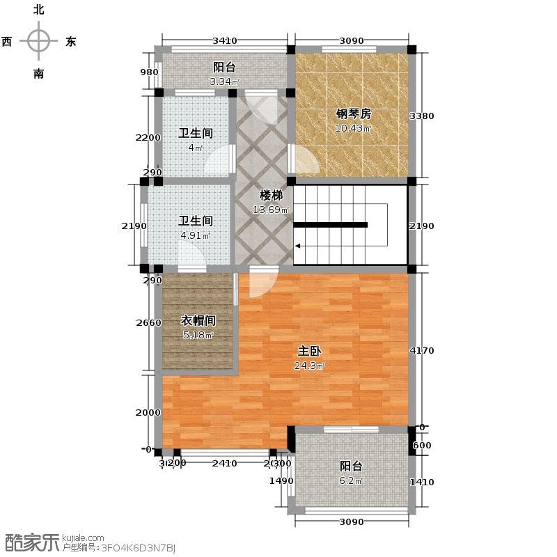 雅仕兰庭西郊公馆283.19㎡双排别墅B1三层户型10室