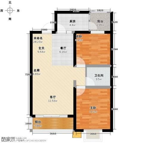 尚品居2室0厅1卫1厨94.00㎡户型图